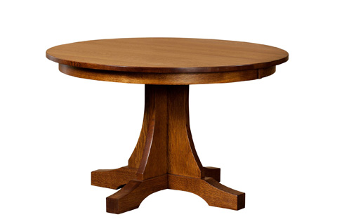 Image of Single Pedestal Mission Solid Top Dining Table