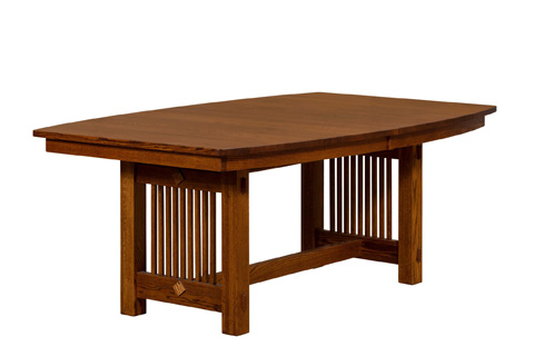 Image of Bungalow Solid Top Trestle Dining Table