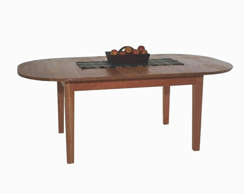 Image of First Settlers Oval Solid Top Dining Table