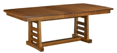 Image of Sunset Hills Solid Top Trestle Dining Table