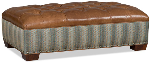 Bradington Young - Emmett Cocktail Ottoman - 387-OT