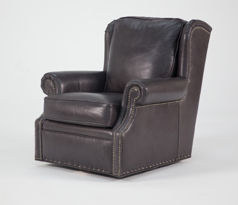 Image of Leather Swivel Chair