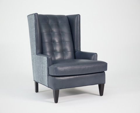 Image of Zadie Leather Stationary Chair