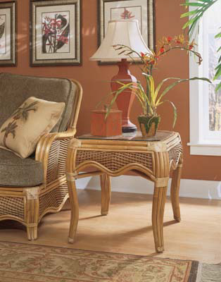 Image of Wicker / Rattan Rectangular End Table