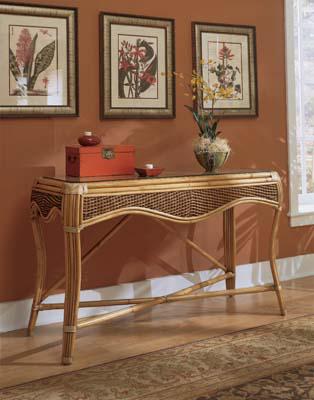 Image of Wicker / Rattan Console Sofa Table