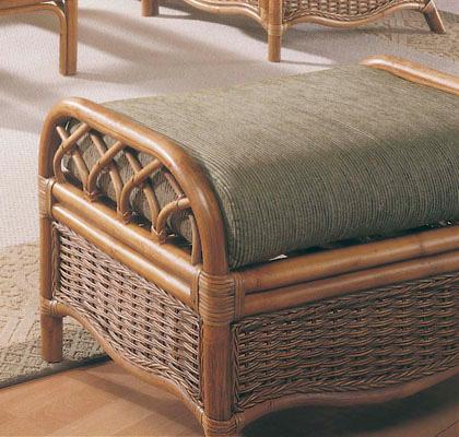 Braxton Culler - Wicker / Rattan Ottoman with Cushion - 905-009
