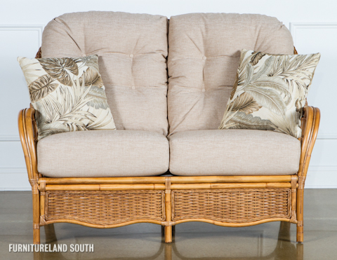 Image of Wicker / Rattan Loveseat with Cushions