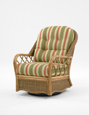 Image of Wicker / Rattan Swivel Glider with Cushions