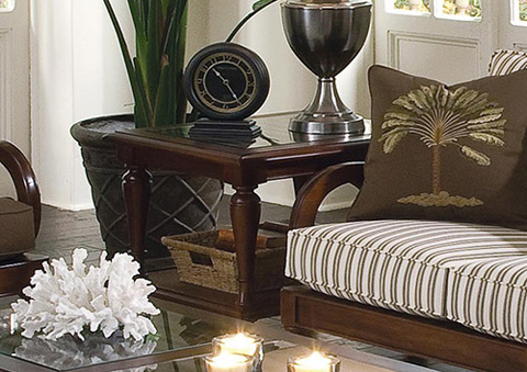 Image of Wood Rectangular End Table
