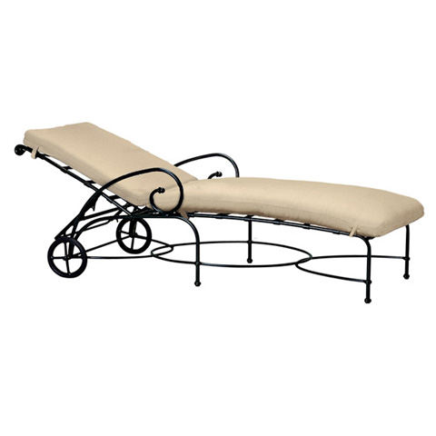 Brown Jordan - Adjustable Chaise with Wheels and Cushion - 2240-7200
