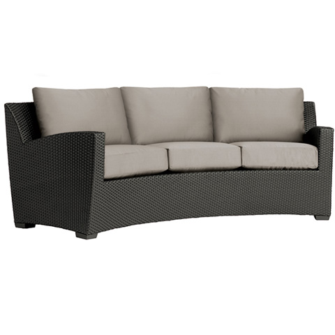 Brown Jordan - Curved Sofa with Cushion - 2860-6370