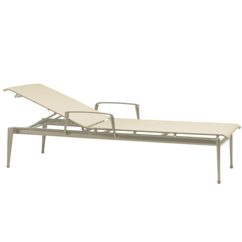 Brown Jordan - Stacking Adjustable Chaise with Arms - 3940-7200