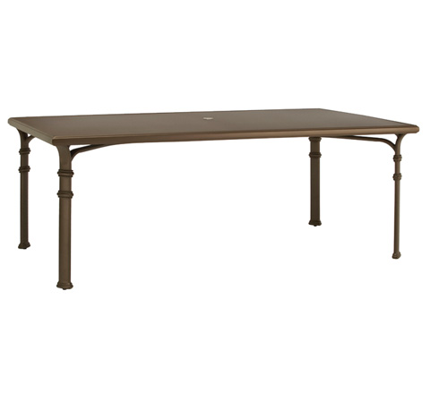Brown Jordan - Rectangular Dining Table with Aluminum Top - 4321-4478-AT