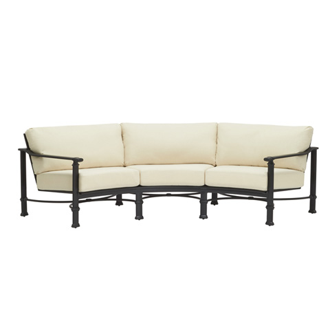 Brown Jordan - Curved Sofa with Loose Cushions - 4340-6460