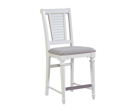 Image of Counter Stool with Upholstered Seat