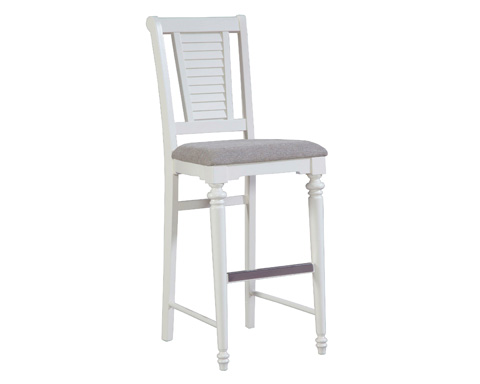 Image of Bar Stool with Upholstered Seat