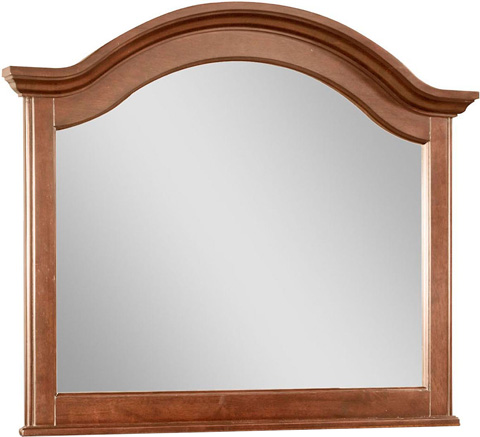 Image of Arched Mirror in Light Cherry