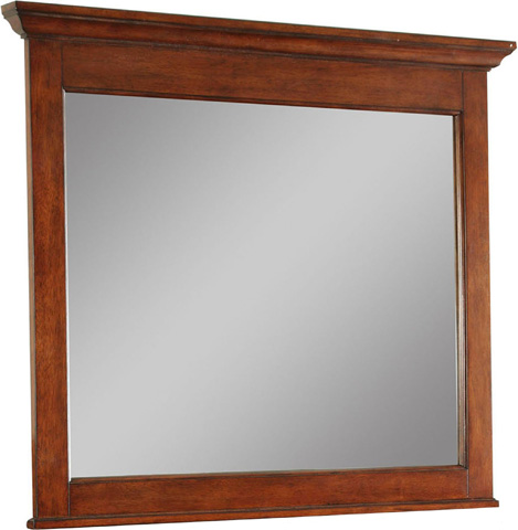 Image of Landscape Mirror in Light Cherry