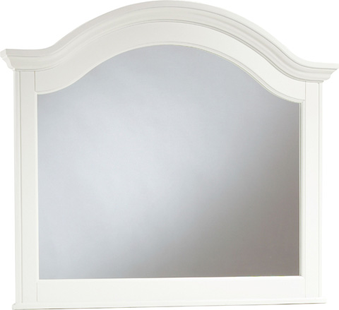 Image of White Arched Mirror