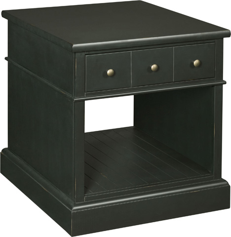 Broyhill Furniture - New Vintage Time-Worn Ebony 1-Drawer End Table - 4809-012