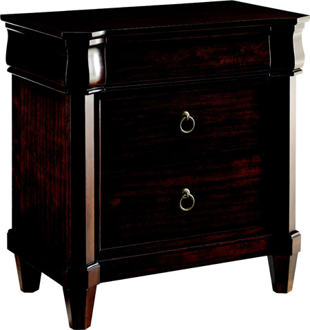 Image of Aryell Autumn Cherry 3-Drawer Nightstand