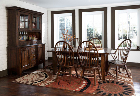 Broyhill Furniture - Attic Heirlooms Rectangular Leg Table - 5399-42V