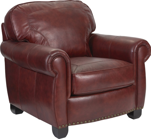 Broyhill Furniture - New Vintage Leather Chair and a Half - L4258-0