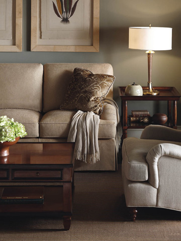Baker Furniture - English Arm Lounge Chair - 6924C