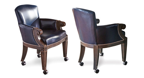 California House - Arm Chair with Casters - C6110