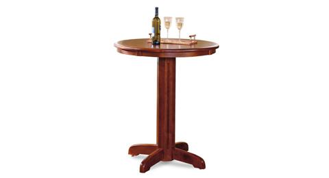 California House - Round Pub Table - T24-RND-NAP-PB