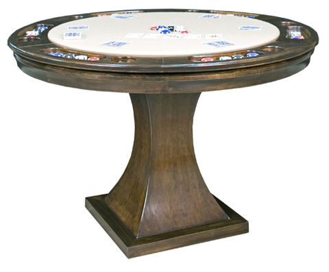 California House - Game Table with Storage - T42-RND-MET-GS
