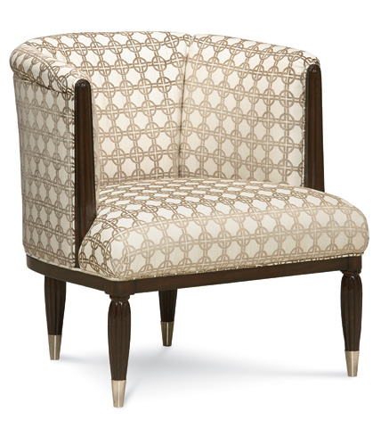 Caracole - Strike a Pose Parlor Chair - UPH-CHAWOO-22B