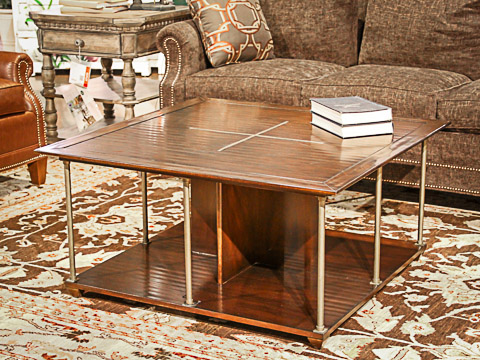Caracole - Brass Axis Square Cocktail Table - TRA-COCTAB-004