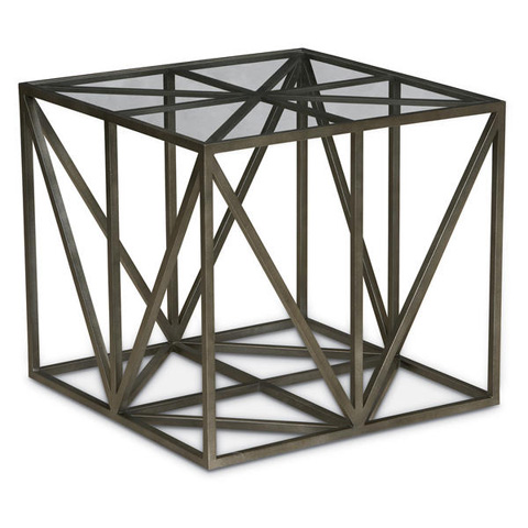 Image of Cobblestone Metal End Table