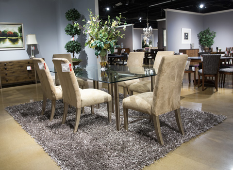 Image of In The Clear Eight Piece Dining Room Set