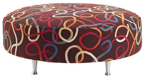 Carter Furniture - Round Ottoman - 400-10