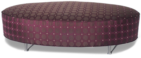 Carter Furniture - Oval Ottoman - 400-15