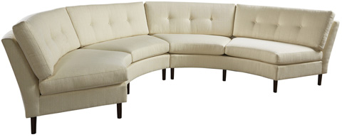 Image of Darby Curved Armless Sofa