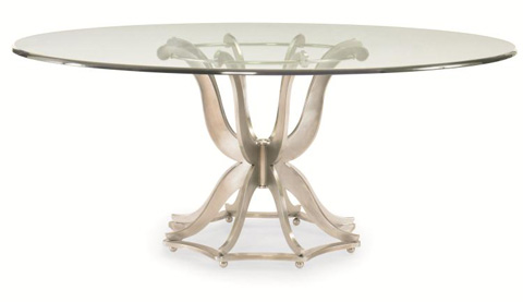 Century Furniture - Round Metal Dining Table with Glass Top - 55A-307