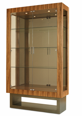 Image of Mirrored Back China Display Cabinet