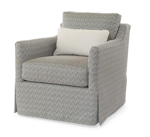 Century Furniture - Allison Skirted Swivel Arm Chair - LTD5141-8SK