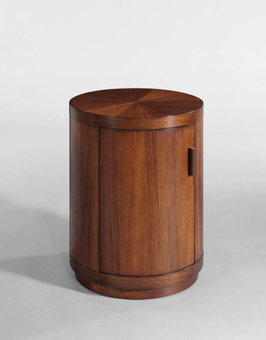Image of Circular Door Commode Accent Table