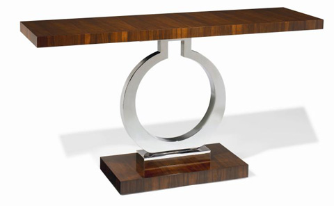 Image of Metal Pedestal Console