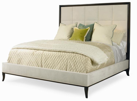 Image of Upholstered Panel King Bed
