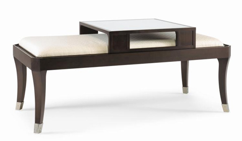 Century Furniture - Upholstered Cocktail Table with Serving Tray - 339-605