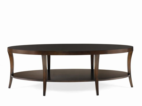 Century Furniture - Oval Cocktail Table with Shelf - 33H-607