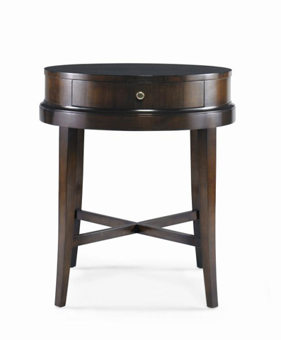 Century Furniture - Round Lamp Table with Drawer - 33H-628