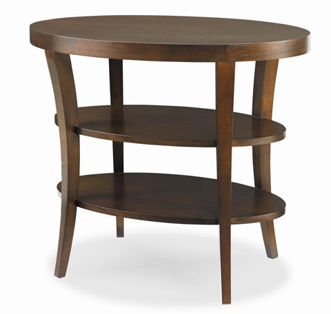Century Furniture - Oval Lamp Table with Shelves - 339-622
