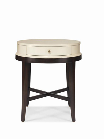Image of Round Lamp Table with Drawer