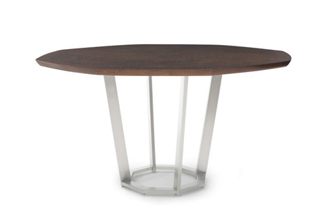 Century Furniture - Sunburst Dining Table with Metal Base - 419-306